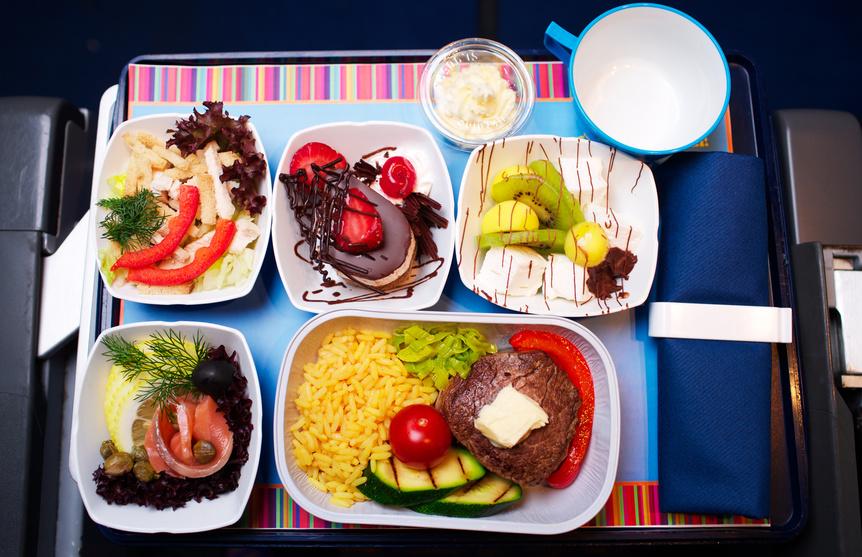 Menu spécial dans l'avion
